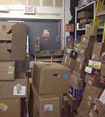 boxes blocking exit