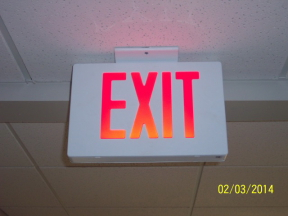 lit exit sign