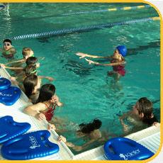 Aquatics Instructor with Kickboards
