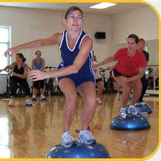 Bosu fitness class