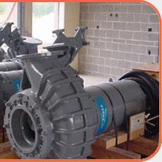 pump at influent pump station