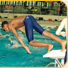 Boy Diving Off block