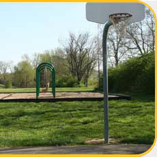 Meadows Park Swings and Basketball Court