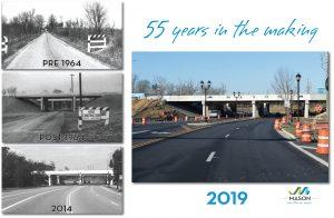 Photos from 1964 through 2019 of I-71 interchange