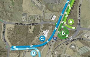 Diagram of new ramps on I-71